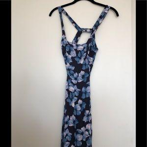 Reformation Blue Floral Midi Dress